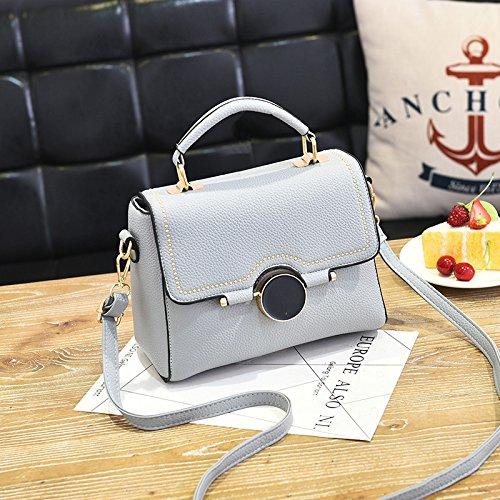 LiZhen Ms. pacchetti per autunno e inverno da piccolo pacchetto nuova marea coreana borsetta elegante e semplice pacchetto ragazza selvaggia borsa Messenger, grigio Grigio