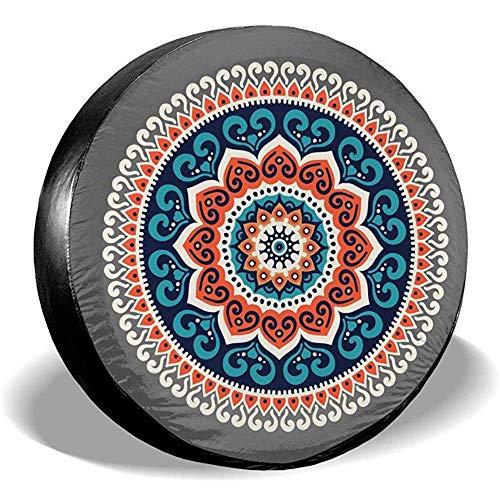 LAURE Tire Cover Accessori per Auto d'Epoca di Ricambio per copricerchi per Mandala hennè Hippie Etnici di Ricambio