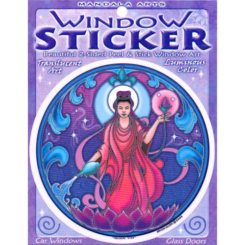 45-double-sided-colorful-quan-yin-window-sticker-by-bryon-allen