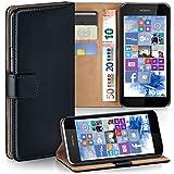 Nokia Lumia 530 Hülle Schwarz mit Karten-Fach [OneFlow