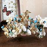 Olydmsky Exquisit Bridal Crown handgemachte Diamant Kristall Haarschmuck Hochzeit Kleidung Accessoires