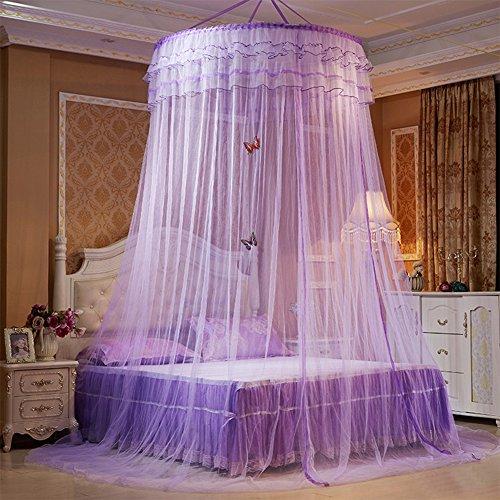 ANPI Moskitonetz, Runde Luxus Prinzessin Pastoral Lace Bed Canopy Net Krippe leuchtenden Schmetterling, (Kleinkind Outfit Valentinstag Für)
