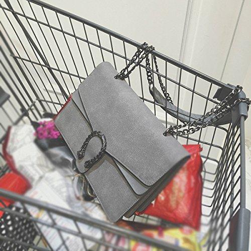 Frau BUKUANG Schultertasche Messenger Bag Handtasche Kette Tasche Tiger Tasche Schmuggler,G D
