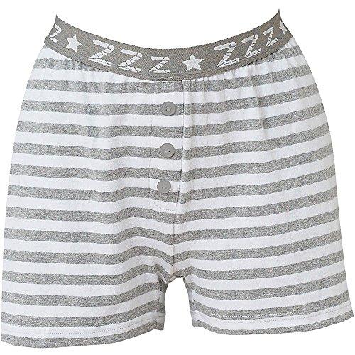 - 61W 2BGsIgRSL - Love To Sleep Striped Soft Jersey Women's Loungewear Pyjama Shorts