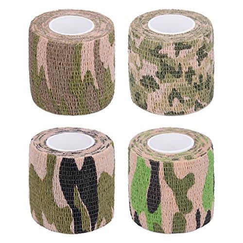 HooAMI Outdoor 4er Set Tarnband Selbsthaftend Camouflage Klebeband 4.5m X 5cm