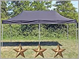 Faltzelt Faltpavillon 3x6m 6x3m Schwarz Partyzelt Pavillon Verkaufszelt wasserdicht