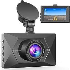 Crosstour Mini AutoKamera 1080P Full HD Dash Cam 12MP Bildschirm mit 170 ° Weitwinkel, HDR, G-Sensor, Loop-Aufnahme, und Bewegungserkennung