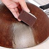 Shobdw, Pratica e utile Spugna in carburo di tungsteno, Strumento per la Pulizia della Cucina, Marrone, 1PC