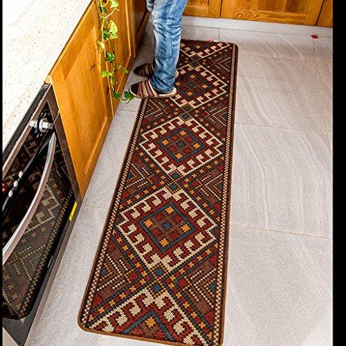 Nacional de viento de cocina retro alargadas cama rectangular tapetes alfombra de la habitación alfombras antideslizantes creativo sencilla geométrica