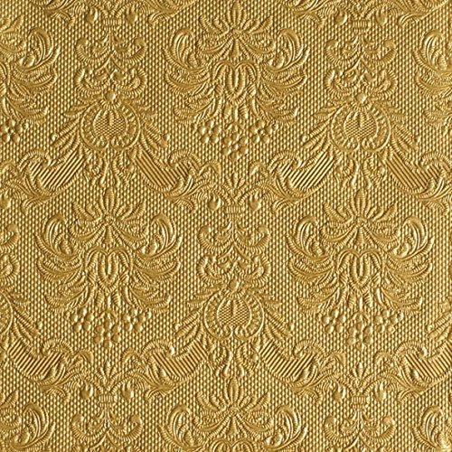 Ambiente tovaglioli 33 x 33 cm Elegance oro goffrato