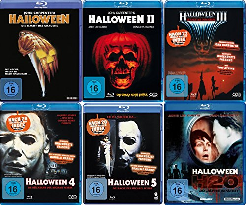 il 1 2 3 4 5 H20 Michael Myers Collection 6 BLU-RAY Neu (Halloween Michael Myers Filme)