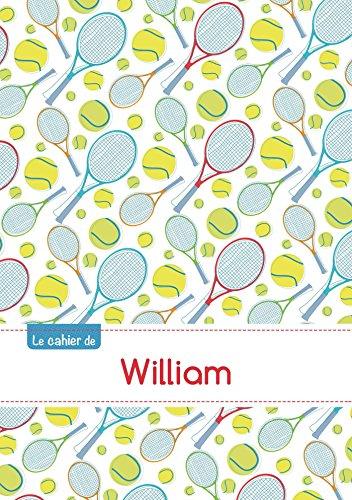 CAHIER WILLIAM PTSCX,96P,A5 TENNIS