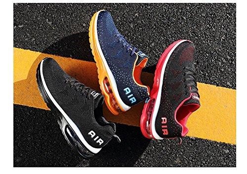 Mimiyaya Unisex Uomo Donna Scarpe Sportive Scarpe Da Corsa Comode Air Running Laces Scarpe Da Corsa Moda E Tempo Libero 34-44eu Naranja
