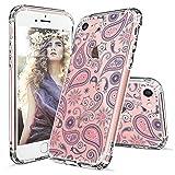 MOSNOVO iPhone 8 Hülle, iPhone 7 Hülle, Blossom Blühen Blumen Flower Muster TPU Bumper mit Hart Plastik Hülle Durchsichtig Schutzhülle Transparent für iPhone 7 (2016) / iPhone 8 (2017) (Paisley)