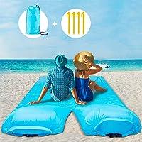 Eletorot Coperta da Spiaggia, 270x140 cm Air Pillow Beach Mat Telo Spiaggia Antisabbia, Coperta Picnic Ideale per Campeggio e Gite all'aperto Area di Espansione