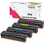 AQINK 4 201A CF400A Toner Cartridge Compatible with HP 201X 201A CF400A CF401A CF402A CF403A for use in HP Color Laserjet...