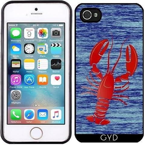 Custodia in silicone per Iphone 5/5S - Aragosta by (Lobster Personalizzato)