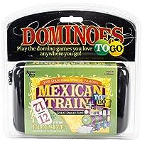 University Games 54201 (-) Mexican Train to-Go Game, Multi-Colour, 19.05 x 18.41 x 6.98 cm