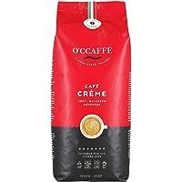 O'CCAFFÈ – Café Crème | 1 kg ganze Kaffeebohnen | säurearmer, aromatischer Kaffee Crema | extra langsame Trommelröstung…