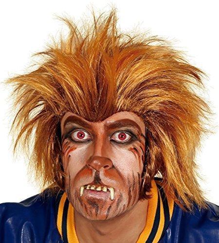 Erwachsene Herren verrückt Werwolf Halloween Wolf orange braun Kostüm Kleid Outfit (Braun Erwachsene Werwolf Kostüme)