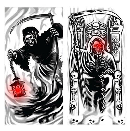 Davies 11775 1x Skelett/Sensenmann Halloween Licht bis Tür Cover–Design zufällig