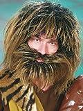 Orlob Herren Perücke Neandertaler Bart zu Steinzeitmensch Kostüm Karneval