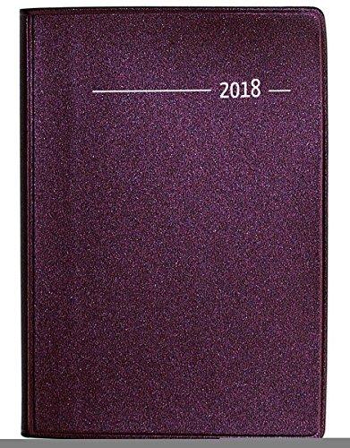 Taschenkalender Buch Metallic rot 2018