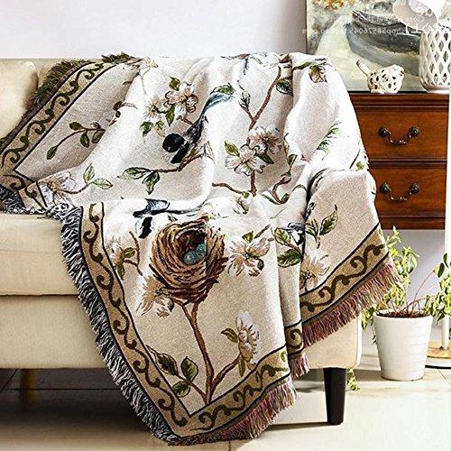 Überwurf Decke Baumwolle Decke für Wohnzimmer und Sofa Auto oder Büro Licht Warm für All Season CS023, cosy-l, baumwolle, 130*160cm (Waffel King-size-decke)