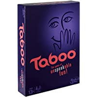 Hasbro Gaming Taboo Board Game, Guessing Game for Families and Kids Ages 13 and Up, 4 Or More Players