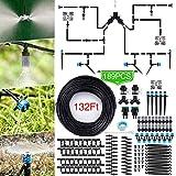 Jeteven Kit di Irrigazione A Goccia, 40M/189Pcs Micro Drip Irrigation Kit Irrigazione Automatica Sprinkler Automatico Irrigazione Sistema per Giardino Serra Impianto
