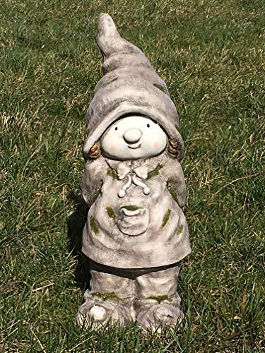 Unbekannt Gartenfigur Junge stehend mit Zipfelmütze - Boy, Mütze, Garten