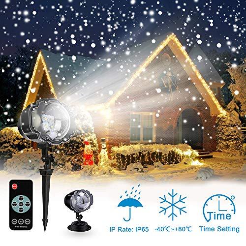 Proiettore Luci Natalizie Led.Proiettore Luci Led Natale Proiettore Fiocchi Di Neve Star Spotlight Di Paesaggio Lampada Led Con Impermeabile Ip65 Due Temperature Di Colore