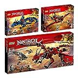 LEGO Ninjago 3er Set 70650 70652 70653 Flügel-Speeder + Blitzdrache + Mutter Der Drachen
