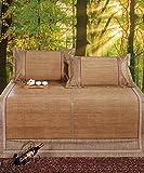 CAIJUN Faltbarer kühler Bambus gewebt 3 Stück Matratze Doppelseitiger Gebrauch Für Sommer-...