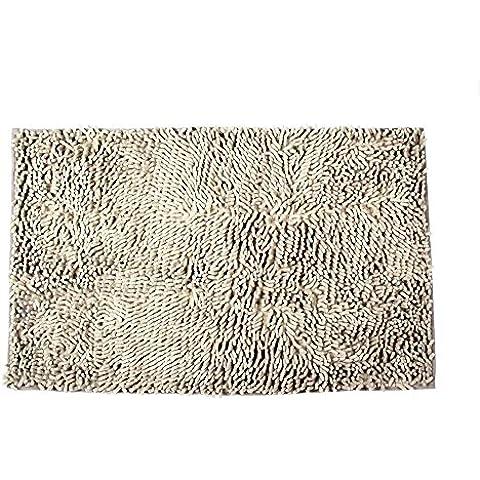 niceeshop(TM) Felpudo Antideslizante de Microfibra Alfombra de Dormitorio Cocina Baño (Gris Plata, 50x80cm)