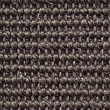 Teppichboden Auslegware | Sisal Naturfaser Schlinge | 400 cm Breite | grau anthrazit | Meterware, verschiedene Größen | Größe: 9 x 4m