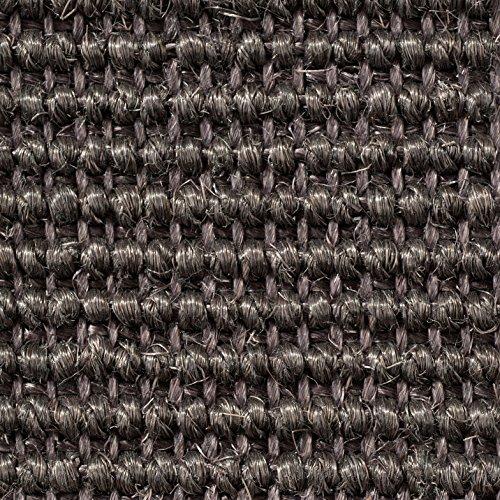 Teppichboden Auslegware   Sisal Naturfaser Schlinge   400 cm Breite   grau anthrazit   Meterware, verschiedene Größen   Größe: 1 Muster