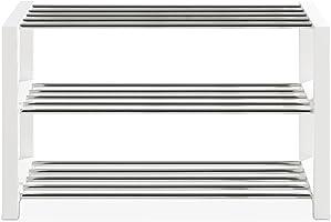 Schuhbank Schuhregal Schuhschrank ULFI | weiß lackiert | 80x50x30 cm