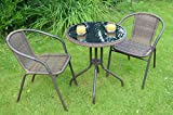Gartenmöbel Bistro Set in Aluminium Rostfrei (Tisch+2 Stühle)