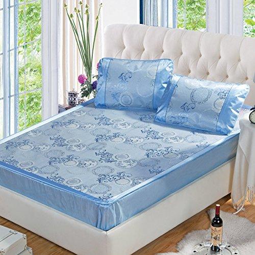 Ottimizzata di seta letto stuoia posti di seta in tre pezzi tappeto modelli Li jacquard 1.5 150 * 195 centimetri 1.8 180 * 200cm metri , B , 1.5m