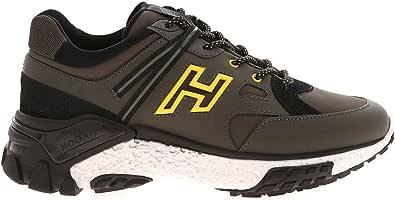 Hogan Luxury Fashion Uomo HXM4770CA70OF9741Z Marrone Pelle Sneakers | Autunno-Inverno 20