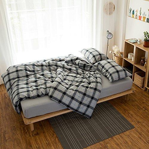 SedBed Cashmere Coton Hiver coréen. Ensemble Simple de 1,8 m 4 lit Chaud épais Matelas la literie de Coton Drap de lit,Type,de Lattice - Cashmere,1,5 m (5 Pieds) lit