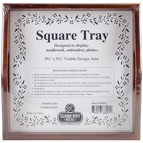 Acajou Maison sudberry Petit Plateau carré 10 x 25 x 25 cm