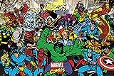 Posters: Marvel Comics Poster - Hulk, Captain America, Spiderman Et D'Autres Caractères (91 x 61 cm)