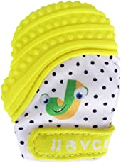 Forberesten Teething Mitten for Infants Baby Boys&Girls Silicone Teething Mitt Teether Gloves BPA Free Self-Soothing Pain Relief Mitt, Teething Toys, Ideal Baby Shower Gift