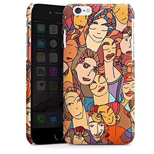 Apple iPhone 5s Housse Étui Protection Coque Visages Yeux Yeux Cas Premium brillant