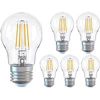 Glühbirne E27, Dimmbare Energiesparlampe 6W (entspricht 60W), A60 LED Birnen 2700K Warmweiß, Glühbirnen 600LM, 6er-Pack
