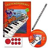TASTENZAUBEREI - mit CD + Piano-Bleistift + 7 lustige Smiley-Sticker - Klavierschule Band 3 von Aniko Drabon - der zauberhafter Einstieg ins Klavierspiel! [Spiralbuchbindung / Musiknoten]