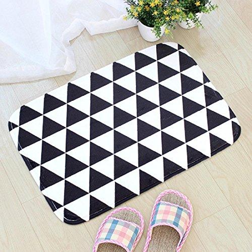 Preisvergleich Produktbild Flanell Teppich Schlafzimmer Wohnzimmer Rutschfeste Matte Fußmatte Teppiche , B , 40*60cm