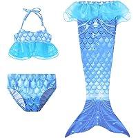 Yimidear Coda da Sirena Bambina Costumi Bambina Costume Bagno Sirena 3Pcs Set di Bikini Mermaid Costume Sirena Vestito…